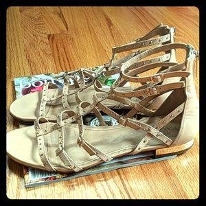 Vince Camuto neutral gladiator sandals